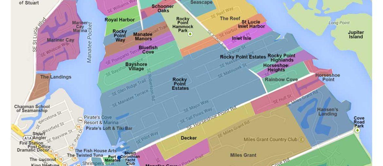 Port Salerno Waterfront/Stuart Neighborhood Map